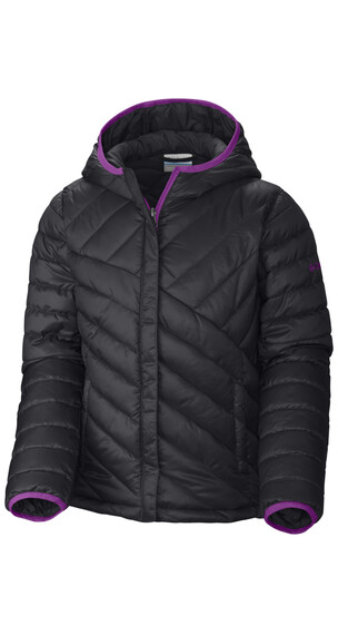 Columbia Powder Lite Puffer Girls Black/Bright Plum